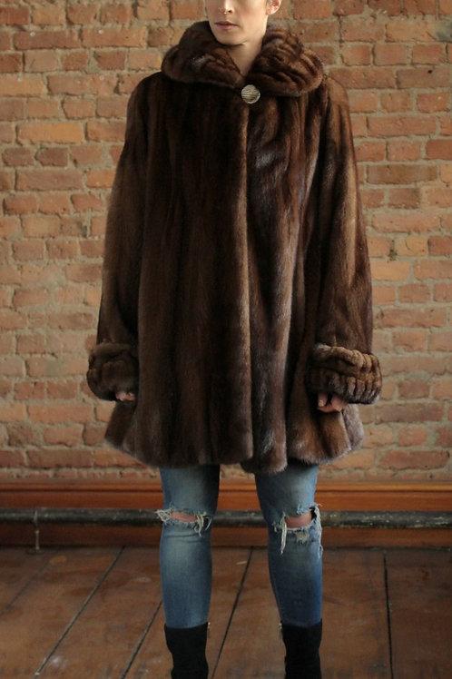 Mia - Demi-Buff 3/4 Mink Coat