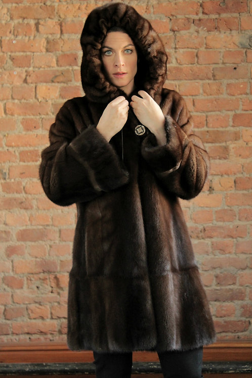 Patricia - Demi-Buff Mink Coat