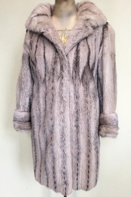 Black Cross Mink Coat