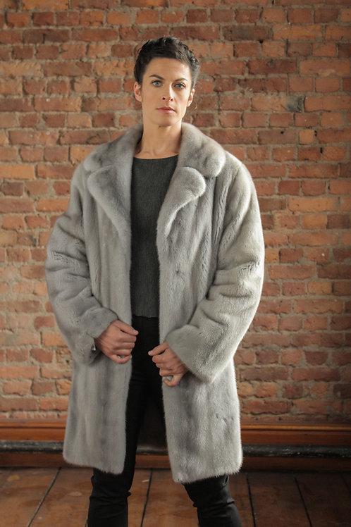 Abigail - Sapphire Mink 3/4 Coat