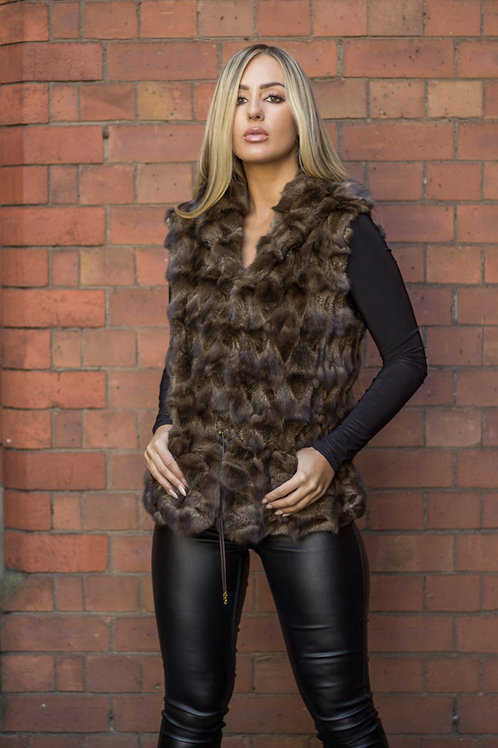 Hooded Russian Sable Gilet