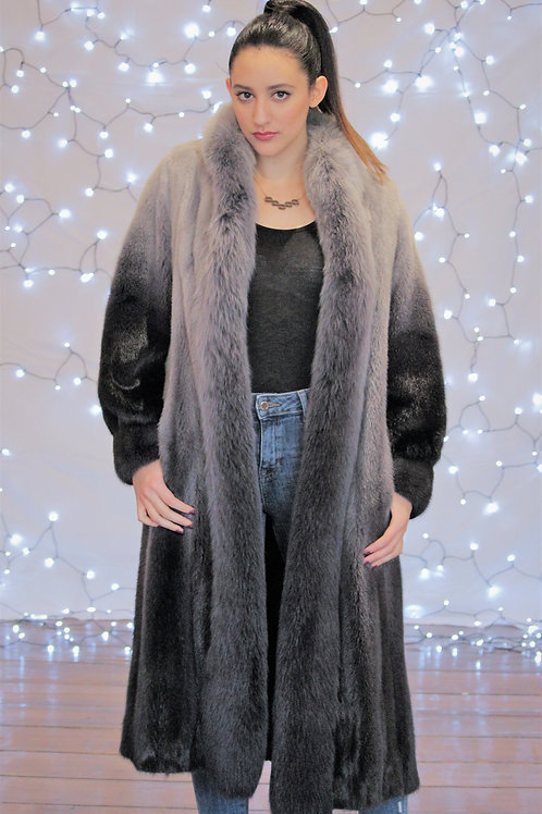 Ombre Dyed Grey Mink Coat (Female)