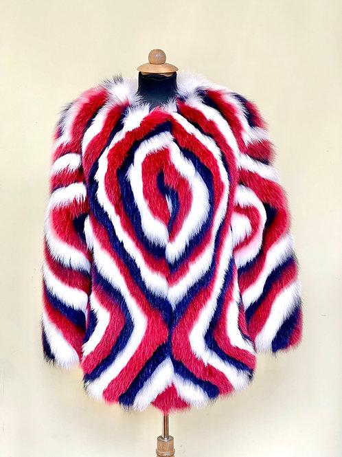 Fox Coat - Multi Coloured  - Red, White & Blue