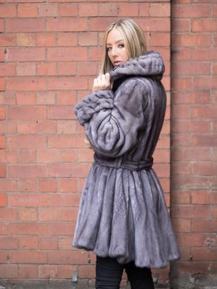 Blue Iris 3/4 Mink Coat
