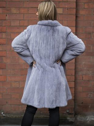 Lavender Silver Mink Coat