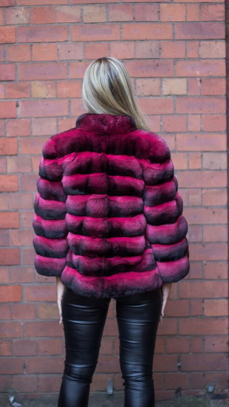 Red Dyed Chinchilla Jacket