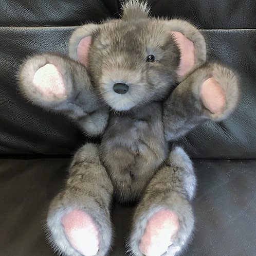 Grey Mink Teddy Bear