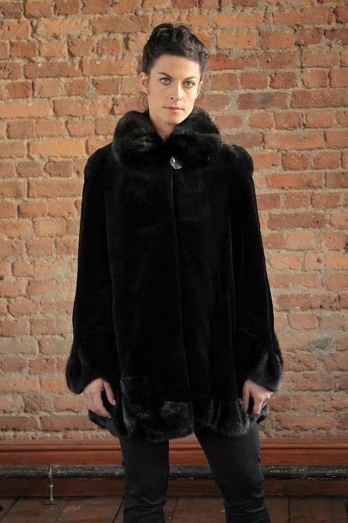 Ella - Black Sheared Mink Coat