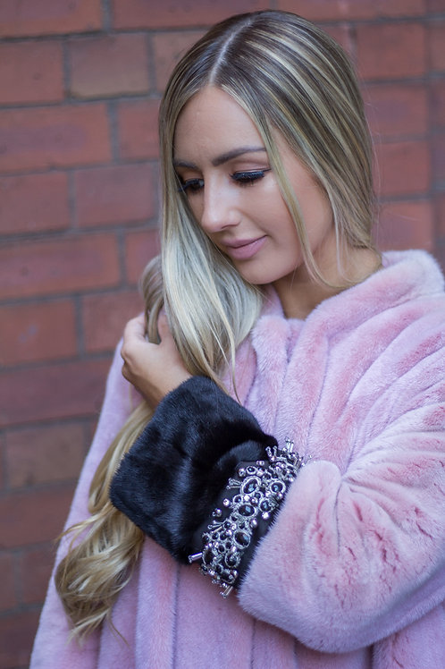 3/4 Salmon Mink Coat