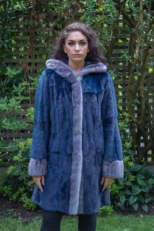Blue Iris and Navy Mink Coat