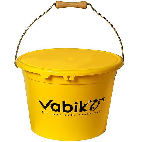 Ведро для прикормки Vabik PRO жёлтое 13л