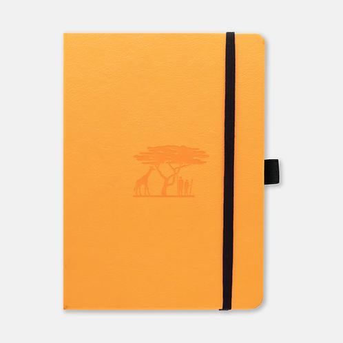 Dingbats* Earth A5+ Dot Grid Notebook - Tangerine Serengeti