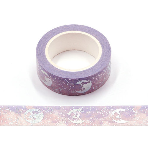 Lilac Lunar Galaxy Holographic Washi Tape