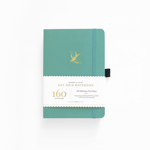 Archer & Olive A5 Dot Grid Notebook - Gliding Swallow
