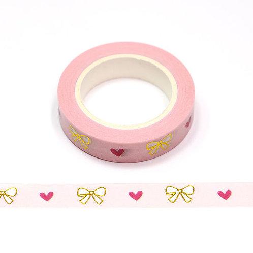 Bows & Hearts Washi Tape (Slim)