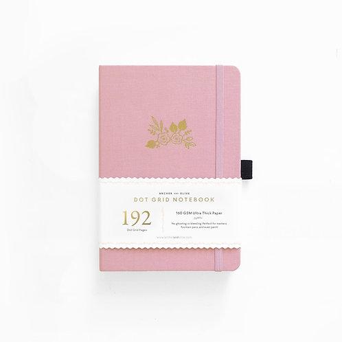 Archer & Olive A5 Dot Grid Notebook - Light Pink 192 PAGES