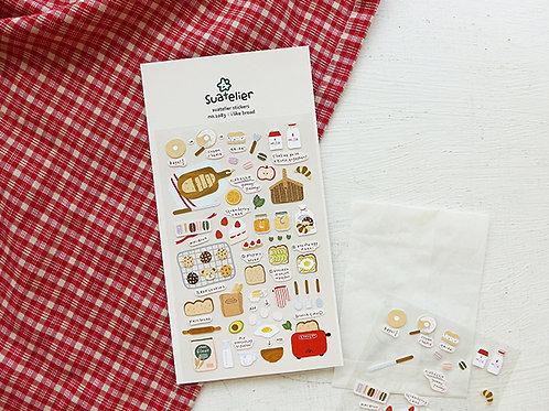 Suatelier Stickers No.1083 - I Like Bread