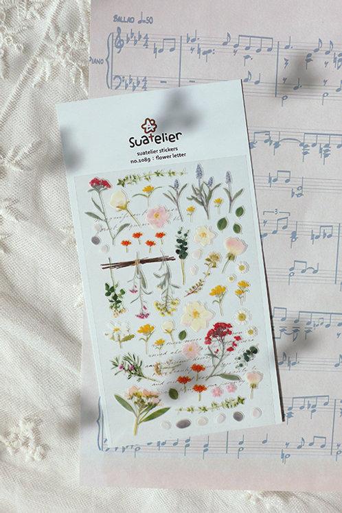 Suatelier Stickers No.1089 - Flower Letter