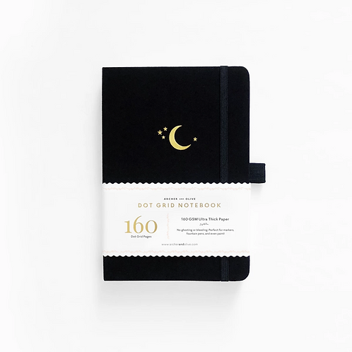 Archer & Olive B5 Dot Grid Notebook - Crescent Moon