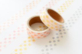 Washi tape Polka set of 4 close up - was
