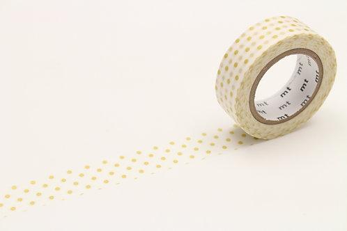 MT Dot S Gold Washi Tape