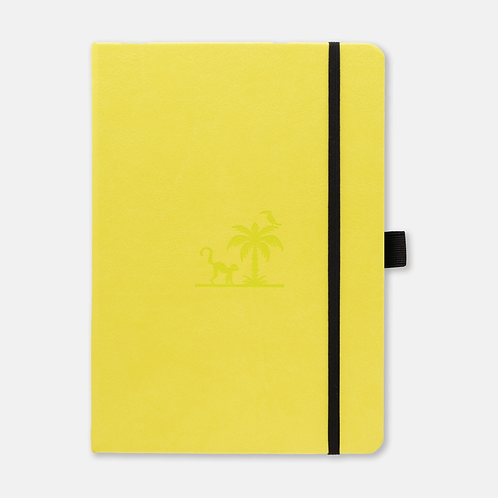Dingbats* Earth A5+ Dot Grid Notebook - Lime Yasuni