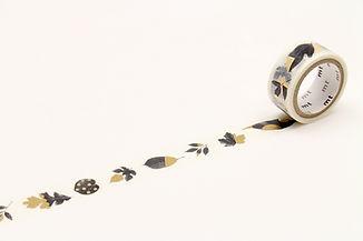 MT Fab Leaves - MT gold foil washi tape