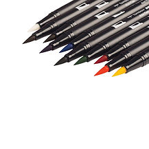 Tombow Dual Brush Pens Primary Set of 10