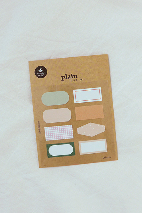 Suatelier Label Stickers No.1663 - Small Mix