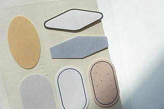 Label Stickers - Plain Deco - no. 1664 c