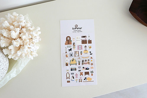 Suatelier Stickers No.1104 - Vlog_Home
