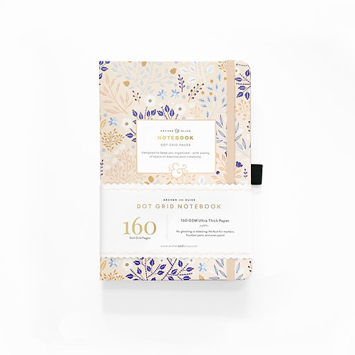 Archer & Olive A5 Dot Grid Notebook - Blush A Bye