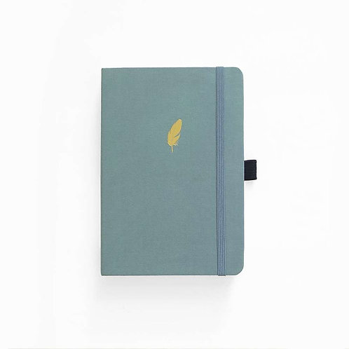 Archer & Olive A5 Dot Grid Notebook - Floating Feather (Green)
