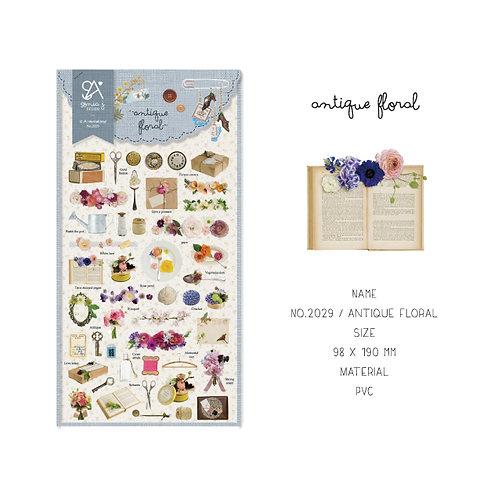 Antique Floral Stickers - Sonia J Design No.2029