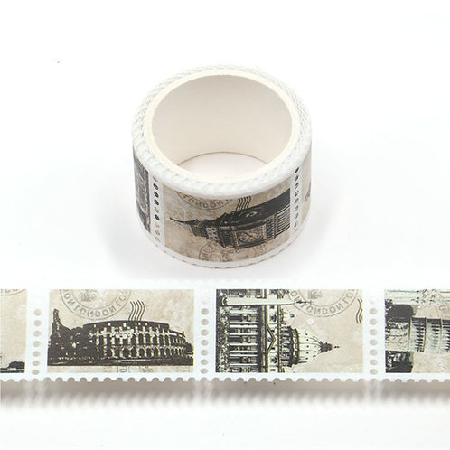 Around the World in Vintage Stamps - Washi Tape