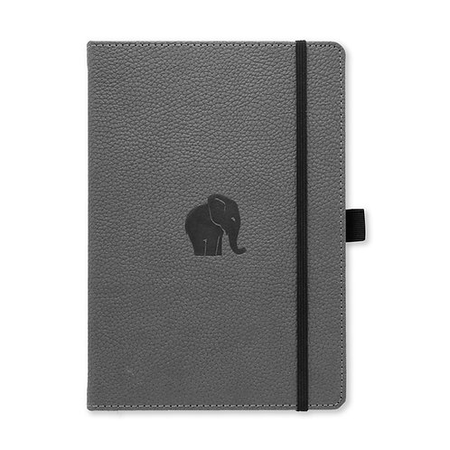 Dingbats* Wildlife A5+ Dot Grid Notebook - Grey Elephant