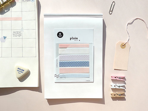 Suatelier Washi Stickers No.1610 - Pastel Grid Washi Strips