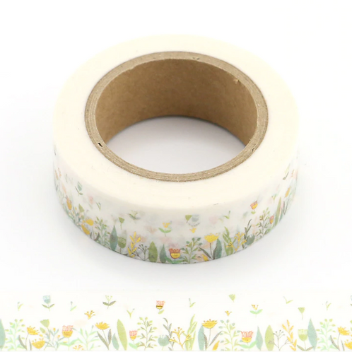 Fields of Green Washi Tape With Gold Foil