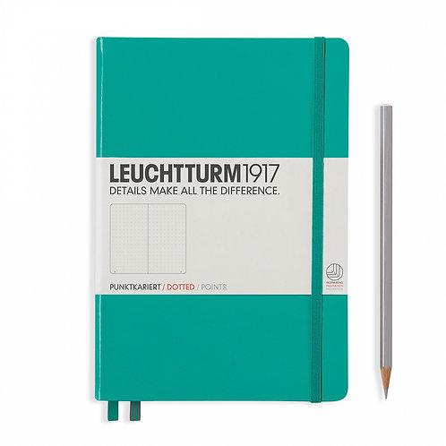 Leuchtturm1917 A5 Dot Grid Notebook - Emerald Green