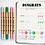 Thumbnail: Dingbats* Ātopen 6-Pack Dual Tip Brush Pens - Pastel