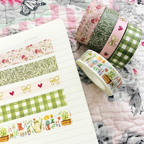 Spring Washi Tape Pack of 5