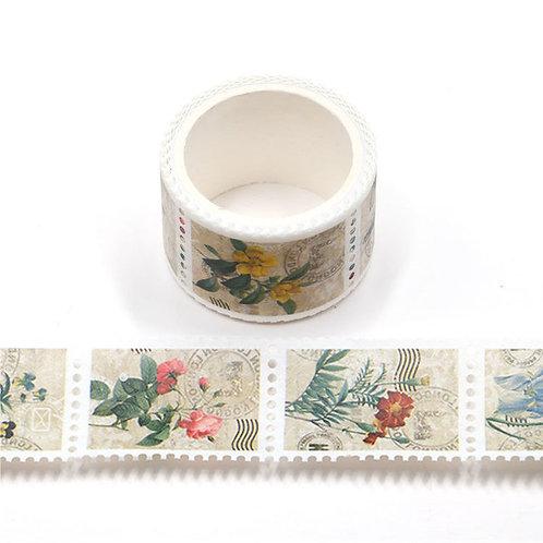 Floral Vintage Stamps - Washi Tape
