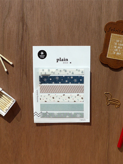 Suatelier Washi Stickers No.1615 - Winter Washi Strips