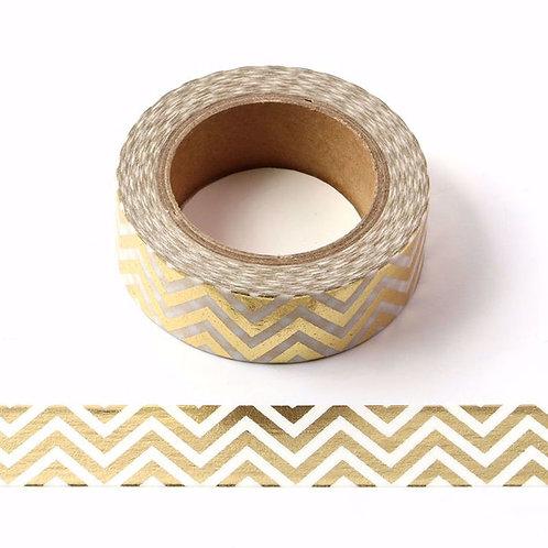 Chevron Party Gold Foil Washi Tape