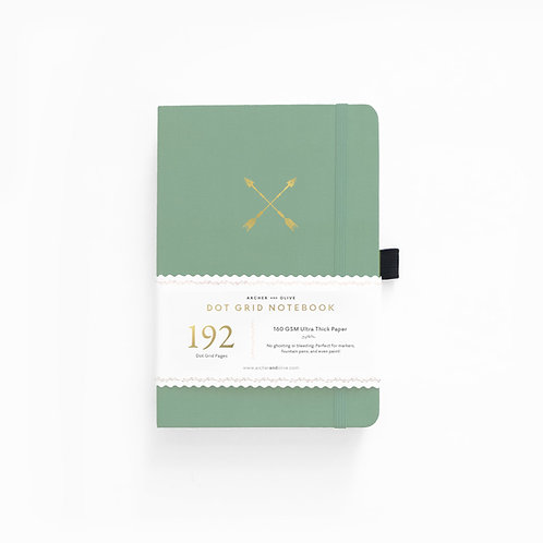 Archer & Olive A5 Dot Grid Notebook - Twin Arrows 192 PAGES