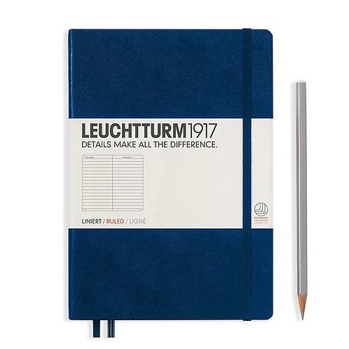 Leuchtturm1917 A5 RULED Notebook - Navy