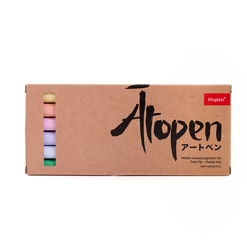 Dingbats* Ātopen 6-Pack Dual Tip Brush Pens - Pastel