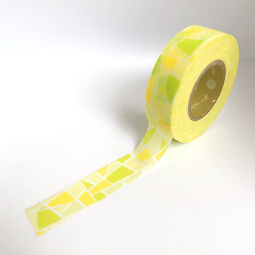Stained Glass Washi Tape - Yellow & Green (Extra Long!)