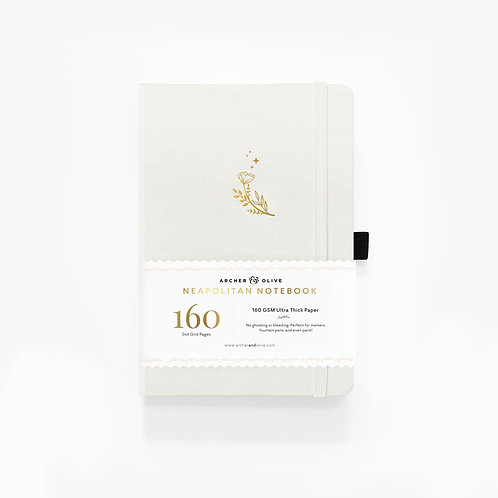 Archer & Olive A5 Dot Grid Notebook - Moon Flowers