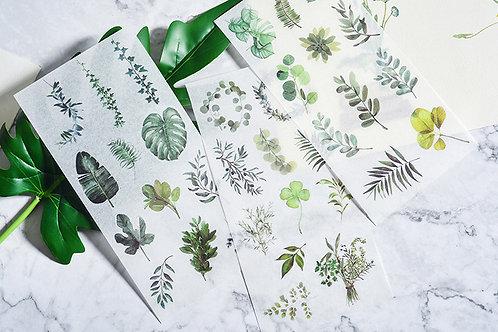 Washi Sticker Sheets - A Botanical Dream